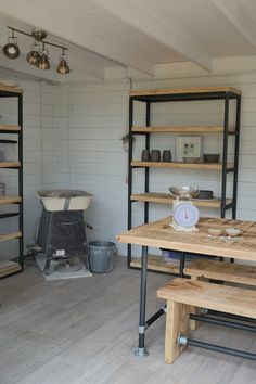 Making the impossible, possible.How I built my pottery studio Making the impossible, possible.How I built my pottery studio — Kara Leigh Ford Ceramics Studio Shed, Workshop Studio, Clay Studio, Studio Room, Ceramic Studio, Home Studio, Basement Studio, Workshop Design, Ceramic Workshop