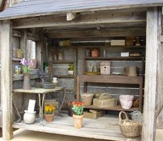 Miniature garden shed - lots of close-ups of interior and exterior