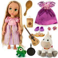 NIB 16 Inch Disney Princess  Animators' Tangled Rapunzel Doll Gift Set #Disney
