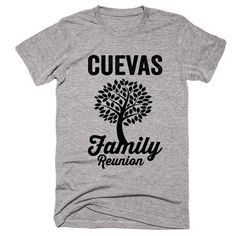 CUEVAS Family Name Reunion Gathering Surname T-Shirt