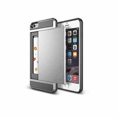 iPhone 6 Quick Wallet and Case with Screen protection. If you do not want to carry a bulky wallet with all your stuff then this case will work for you it is the latest in QUICK Wallet that will allow you to store in a hidden slider pocket that is no ticker then the case of the phone itself.