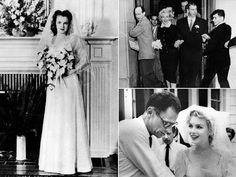 The 54 Best Celebrity Wedding Dresses of All Time Marilyn Monroe Kate Moss Wedding Dress, Kate Middleton Wedding Dress, Meghan Markle Wedding Dress, Celebrity Wedding Photos, Celebrity Wedding Dresses, Celebrity Weddings, Anna Campbell, Stella York, Marilyn Monroe