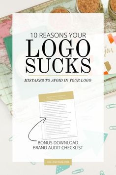 I need to be honest, your logo sucks. But it doesn't have to suck! Okay maybe that's a bit harsh, but I see these issues all of the time, and I only want to make the world a prettier place! Want to know the reasons your logo sucks? Let me help you avoid these bad situations so your brand can rock. Download my free Brand Audit checklist too at http://hollymccaig.com.