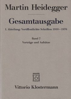 Martin Heidegger, Bauen Wohnen Denken (Costruire, abitare pensare), 1951, Darmstadt, Neue Darmstädter Verlagsanstalt, 1952, p. 72 ss. http://www.cloud-cuckoo.net/openarchive/wolke/deu/Themen/themen982.html