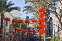 Chinese decorations on the Linq Promenade on the Chinese New Year 2016 Chinese New Year 2016, Las Vegas Attractions, Year Of The Monkey, New Year Celebration, Chinese Decorations, Things To Do, Things To Make