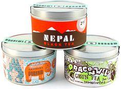 Damn Fine Tea: super cool limited edition artist tea tins
