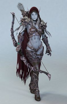 Sylvanas - world of warcraft...totally just geeked out!!!!! I>WANT!!!!!! 0.O