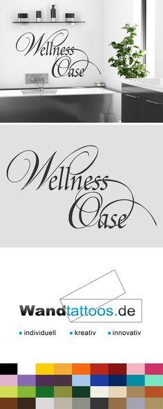 Badezimmer Wandtattoo Wörter Wandtattoo Wellness Oase als Idee zur individuellen Wandgestaltung. Einfach Lieblingsfarbe und Größe auswählen. Weitere kreative Anregungen von Wandtattoos.de hier entdecken!
