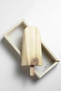 wooden popsicles by Johnny Hermann