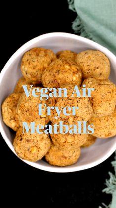 Good Healthy Recipes, Delicious Vegan Recipes, Low Carb Recipes, Vegetarian Recipes, Cooking Recipes, Vegan Meals, Vegetarian Meatballs, Tofu Meatballs, Actifry Recipes