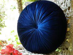 blue velvet pillow to go with the new comforter