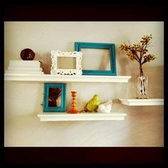 Peacock inspired shelf decoration
