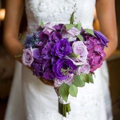 Фиолетовый свадебный букет невесты (Obradoval.ru) - фото 22