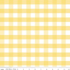 Riley Blake Designs - Gingham - Large Gingham in Yellow
