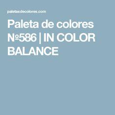 Trend Paleta de colores IN COLOR BALANCE