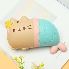 Woow Squishy Cat Kitten Fish Mermaid 15*9*6.8cm Slow Rising Toy With Original Packing Bag Gift Collection