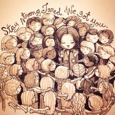 A drawing by Tiia / Fangirl Quest in support of Jared Padalecki and his Always Keep Fighting campaign.  Original tweet: https://twitter.com/FangirlQuest/status/600033553146060803 Tumblr post: http://fangirlquest.tumblr.com/post/119225601751