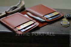 Купить Портмоне-кардхолдер. - рыжий, портмоне, портмоне из кожи, кардхолдер, кошелек, кошелек из кожи, подарок