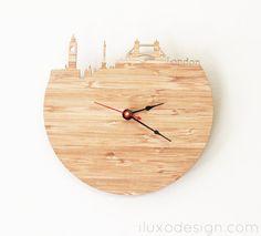 London Modern Wall Clock by iluxo on Etsy
