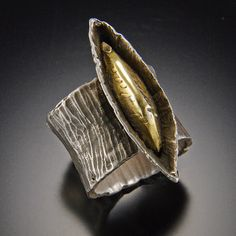 Sterling silver and 18kt gold ring