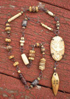 Green Man Amulet necklace by Maggie Zee  www.maggiezee.blogspot.com