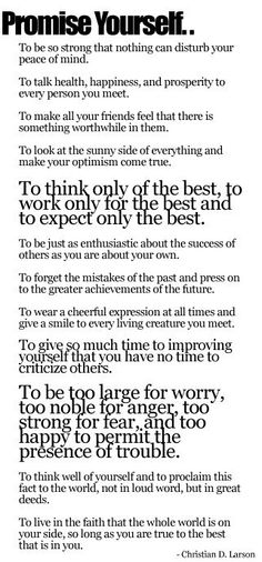The Optimists Creed :) yes. I need to read this EVERY morning.