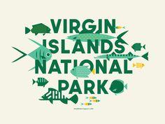 Virgin Islands National Park  Type Hike by Jay Fletcher #Design Popular #Dribbble #shots National Park Posters, National Parks, Virgin Islands National Park, Island Park, Logo Design, Graphic Design, Type Design, Parking Design, Illustrations