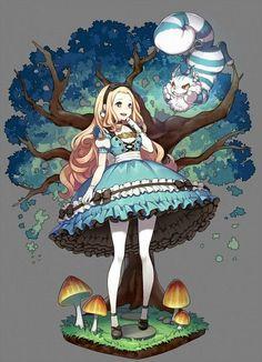 Alice in Wonderland, Cheshire Cat, Alice (Alice in Wonderland), Mushroom, Black Footwear