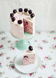 Cherry Vanilla Cake Recipe