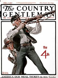 Civil War Vet on Fourth of July – Norman Rockwell – July 2, 1921