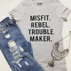 #misfits #rebel #troublemaker  #graphictee  #flashesofdelight #fashiongram #fashion #instagood #graphictshirt #supportsmallbusiness #girlboss #houstonfashion #stylediaries #chic #thelittlethings #styleinspo #stylesteals #fashionista