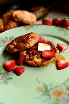 Croissant French Toast would be perfect for a decedent weekend brunch with friends.