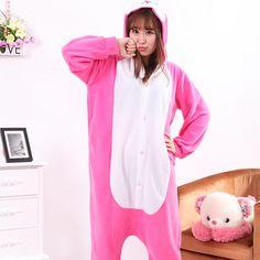 Adult Pajamas Animal Rabbit Polar Flleece Kigurumi Pajamas