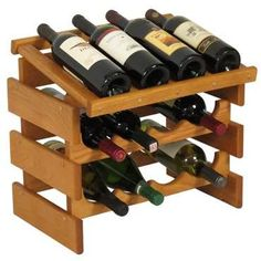 Solid Oak Dakota Wine Rack 8 Bottle Rack with Display Top 4 Wide Mahogany *** You can get more details by clicking on the image. (This is an affiliate link) Wine Bottle Rack, Bottle Holders, Wine Holders, Bottle Labels, Beer Bottle, Stackable Wine Racks, Tabletop, Wood Wine Racks, Racking System