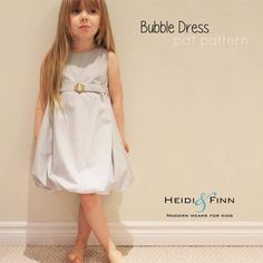Bubble Dress Pattern and tutorial 12m-5T DIY pdf pattern EASY Sew