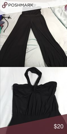 One piece cat suit Black one piece cat suit- fitted stretch material- long pants Other
