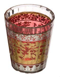 Gobelet à double paroi « zwischengoldglass », Bohême, deuxième quart du XVIIIe siècle