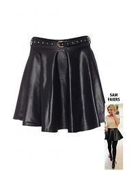 Only Belted Leatherette Skater Skirt Leather Skater Skirts, Belt, Dresses, Fashion, Belts, Gowns, Moda, Fashion Styles, Dress
