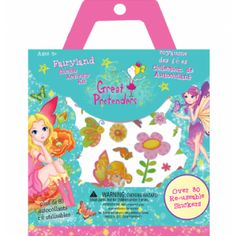 Great Pretenders - Fairyland Sticker Activity Kit - Perfect for travel and rainy day fun. Includes over 80 reusable stickers and 2 sheets of playgrounds for continued fun. Eco Kids, Rainy Day Fun, Building For Kids, Age, Stickers, Fairy Land, Gifts For Girls, Little Boys, Boy Or Girl