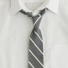 J.Crew Thin-stripe tie ($60) via Polyvore