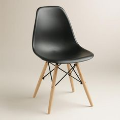 One of my favorite discoveries at WorldMarket.com: Black Molded Evie Chairs, Set of 2