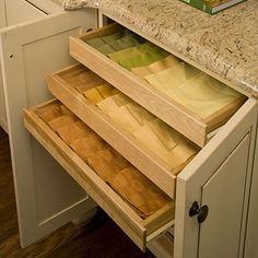 Linen Storage - add to a cabinet near the dining space for extra convenience