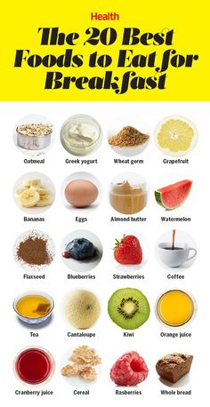 20 Best Foods to Eat for Breakfast These staples and mix-ins will give you all the energy and nutrients you need in the morning. These staples and mix-ins will give you all the energy and nutrients you need in the morning. Healthy Desayunos, Healthy Drinks, Healthy Living, Eating Healthy, Diet Drinks, Health Eating, Healthy Fiber, Heart Healthy Diet, Healthy Meal Prep