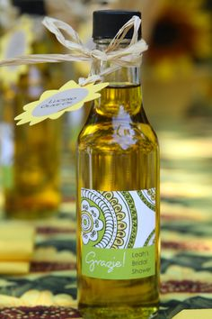 Olive oil bridal shower favor
