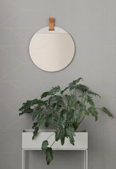 A simple and sincere, but striking hello as you walk into your bathroom, hallway, bedroom or entryway simple. A round and essential mirror, perfectly combined with leather ladder clothes rack sold separately.