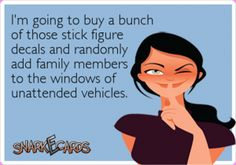funny family stickers