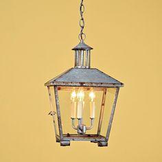 Rustic Galvanized Lantern for dining room