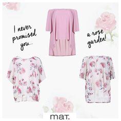 🌹 I Beg Your Pardon, I never promised you a rose garden... • Το ροζ χρώμα και τα ροζ τριαντάφυλλα υπόσχονται χάρη και κομψότητα, αλλά και γλυκύτητα και θυμίζουν ποιητικό ρομαντισμό! (Κωδικοί 661.1238, 661.1245 & 661.1246) #matfashion #collection #realsize #newseason #rosegarden #fashionista #florals #inspiration