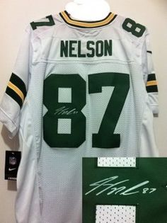96b1f30060e  JerseysLove com   Nike Green Bay Packers  87 Jordy Nelson White Signed  Elite NFL