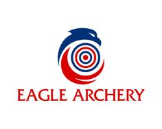 Eagle Archery Logo design - Unique design logo of eagle with the target point in the middle of it in a very creative and stylized design, simple design in blue and red colors. This design can be useful for sports, games, sports foundation, events, mobile app and more. Price $299.00